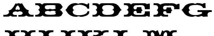 EF Thunderbird Turkish Regular Font UPPERCASE