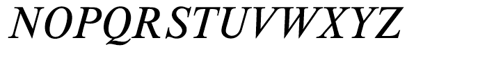 EF Timeless Light Italic Font UPPERCASE