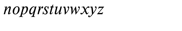 EF Timeless Light Italic Font LOWERCASE