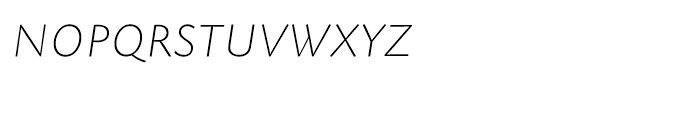 EF Today Sans Serif B Extra Light Italic SC Font LOWERCASE