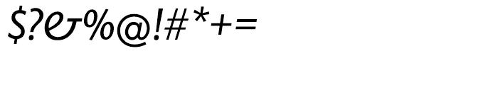 EF Today Sans Serif H Regular Italic Font OTHER CHARS