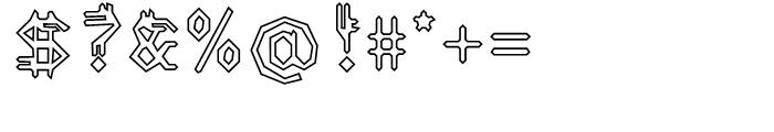 EF Varbur Broken Outline Font OTHER CHARS