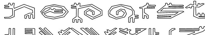EF Varbur Broken Outline Font UPPERCASE