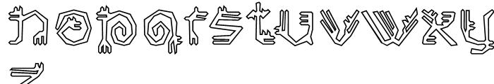 EF Varbur Broken Outline Font LOWERCASE