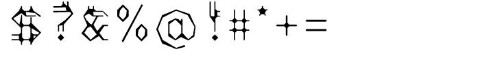 EF Varbur Broken Font OTHER CHARS