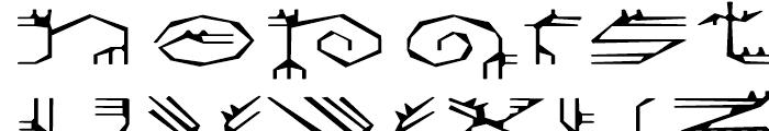 EF Varbur Broken Font UPPERCASE
