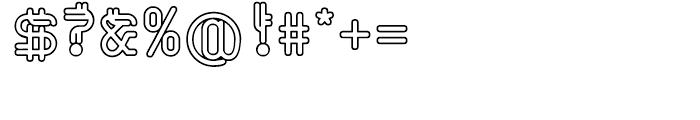 EF Varbur Outline Font OTHER CHARS
