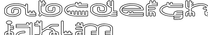 EF Varbur Outline Font UPPERCASE