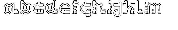 EF Varbur Outline Font LOWERCASE