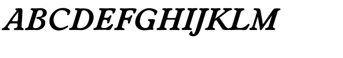 EF Worchester Demi Bold Italic Font UPPERCASE
