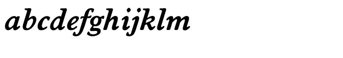 EF Worchester Demi Bold Italic Font LOWERCASE