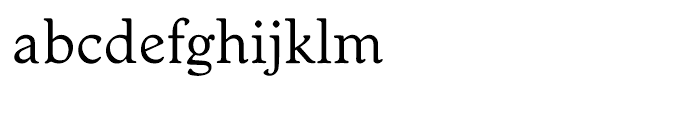 EF Worchester Regular Font LOWERCASE