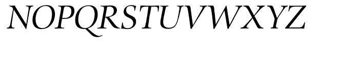EF Zapf Renaissance Antiqua H Book Italic Font UPPERCASE