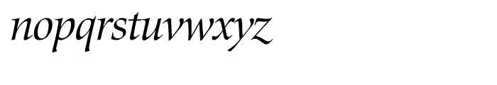 EF Zapf Renaissance Antiqua H Book Italic Font LOWERCASE