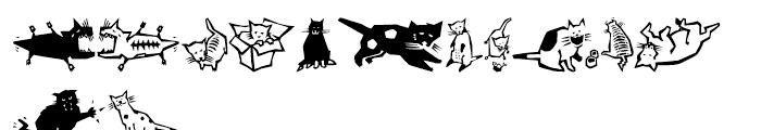 EFQuadruPets Cats Font UPPERCASE