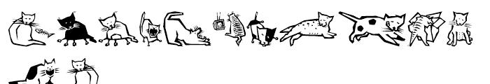 EFQuadruPets Cats Font LOWERCASE