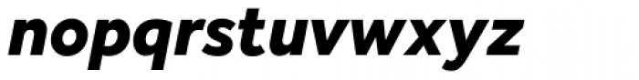 Effra Heavy Italic Font LOWERCASE