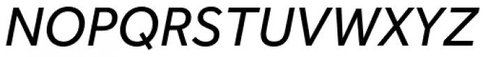 Effra Italic Font UPPERCASE