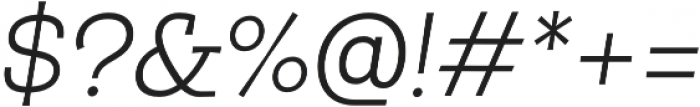 Egalite Light Italic otf (300) Font OTHER CHARS