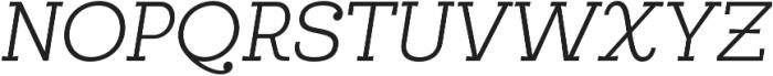Egalite Light Italic otf (300) Font UPPERCASE