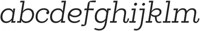Egalite Light Italic otf (300) Font LOWERCASE