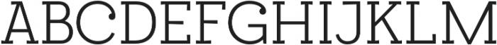 Egalite Light otf (300) Font UPPERCASE