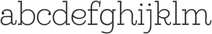 Egalite Thin otf (100) Font LOWERCASE