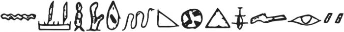 Egyp Regular ttf (400) Font UPPERCASE