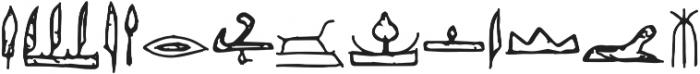 Egyp Regular ttf (400) Font LOWERCASE