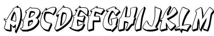 Egg Roll 3D Italic Font UPPERCASE