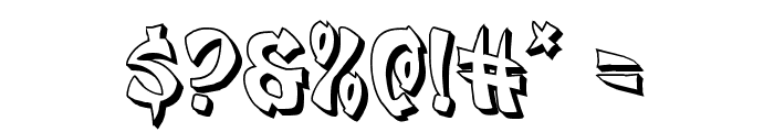 Egg Roll 3D Font OTHER CHARS
