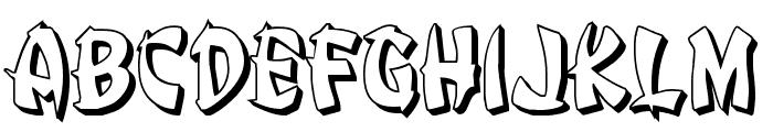 Egg Roll 3D Font LOWERCASE