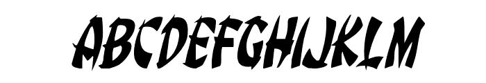 Egg Roll Condensed Italic Font UPPERCASE