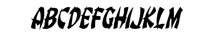 Egg Roll Condensed Italic Font LOWERCASE