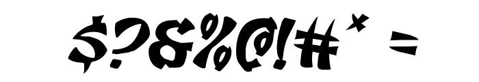 Egg Roll Expanded Italic Font OTHER CHARS