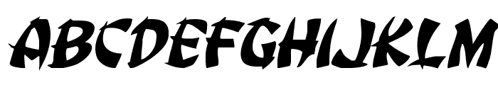 Egg Roll Expanded Italic Font UPPERCASE