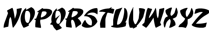 Egg Roll Expanded Italic Font LOWERCASE