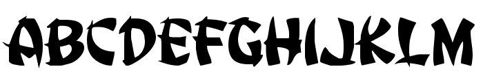 Egg Roll Expanded Font UPPERCASE