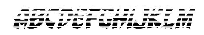 Egg Roll Gradient Italic Font UPPERCASE