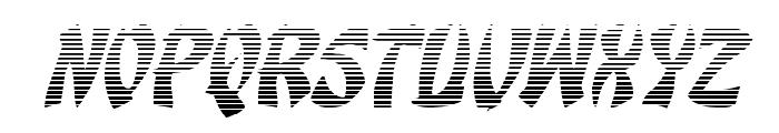 Egg Roll Gradient Italic Font LOWERCASE