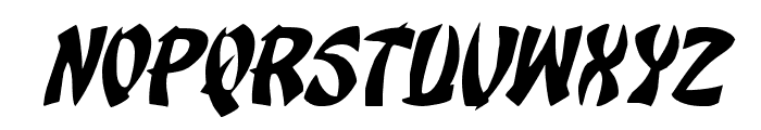Egg Roll Italic Font UPPERCASE