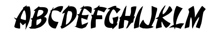 Egg Roll Jumbled Italic Font UPPERCASE
