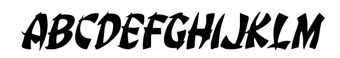 Egg Roll Jumbled Italic Font LOWERCASE