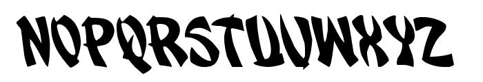Egg Roll Leftalic Font UPPERCASE