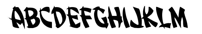 Egg Roll Leftalic Font LOWERCASE