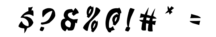 Egg Roll Title Italic Font OTHER CHARS