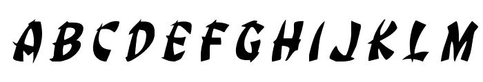 Egg Roll Title Italic Font UPPERCASE