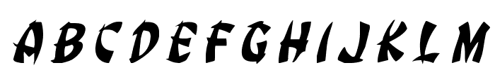Egg Roll Title Italic Font LOWERCASE