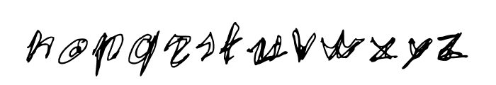 EgidoVal Handstyle 1 Medium Font LOWERCASE