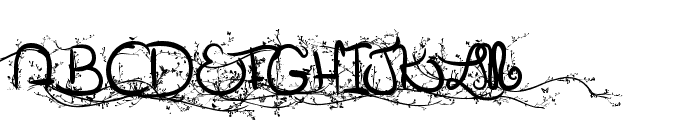 Eglantine Font UPPERCASE